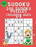 Sudoku 200 Sudoku Puzzles for Children Ages 4-8: Sudoku Puzzle Book for Kids with Solutions 6x6 - Improve your Child's Memory and Logic - Large Print Sudoku for Kids Vol 1