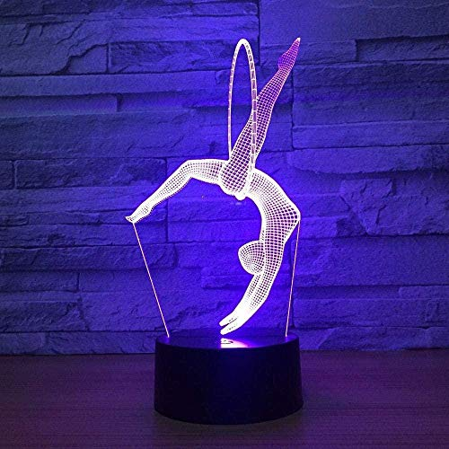 Luz 3D 7 Colores Led Luz Nocturna Ninos Toque Ledusb Mesa De Comedor Bebe Dormir Luz Nocturna