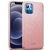 Verco Cover per iPhone 12 Mini Case, motivo glitterato per Apple iPhone 12 Mini, in silicone TPU, rosa