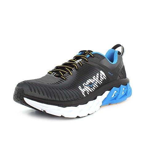HOKA ONE ONE Mens Arahi 2 Running Shoe Black/Charcoal Grey Size 11 ...