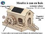 Moulin à eau et roue à aubes à énergie solaire - décoration jouet