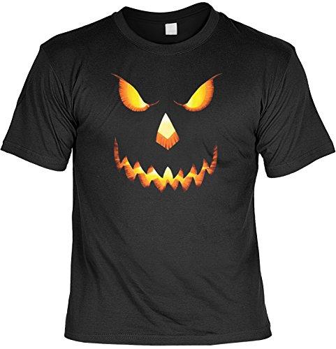 Verve Fun Shirt Happy Halloween Kostüm Grusel Trick or Treat auch in 3XL 4XL 5XL Kürbiskopf Fb schwarz