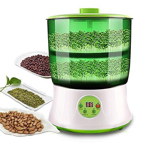 Bohnensprossen Maschine, LED-Anzeige Auto Intelligenz Electronical Seed Sprouts Maker Lebensmittel Grad PP Power-Off Speicherfunktion Keimgerät