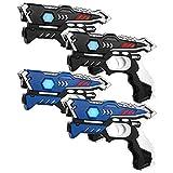 KidsFun Lasertag Set: 4 Laserpistolen - Laser Tag Spiel Set für Kinder Ab 6 Jahren