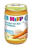 HiPP Karotten mit Reis und Wildlachs, 6er Pack (6 x 220 g) -