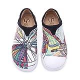 UIN Mocasín de Mujer Lona sin Cordones,Blanca Mocasín de Casual Diseñado Holgazán de Mujer Zapatos Comodos de Zapatos Mujer 39