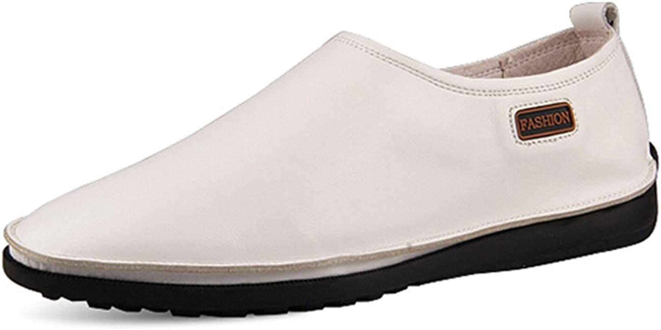 HAPPYSHOP TM New Real Leather Business Sacramento Mall Casual Direct store Mens Slip-on Shoes