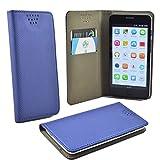 ikracase Handytasche für Emporia Smart 3 Mini Smartphone Tasche Schutzhülle Hülle Kleber Cover Case Handy Handyhülle in Blau a