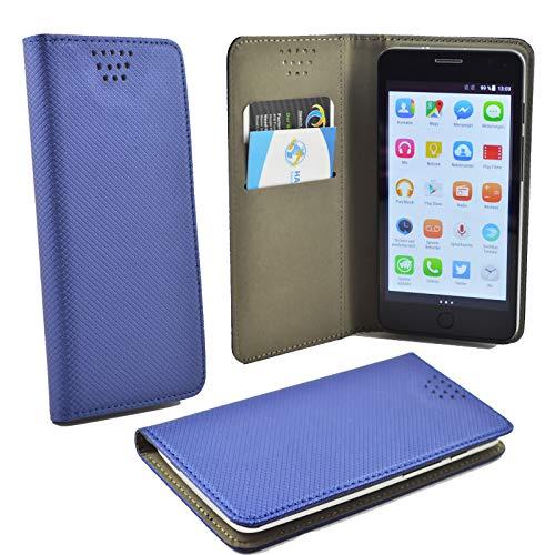 ikracase Schutz-Hülle für Gigaset GS110 Smartphone Hülle Slide Hülle Cover Handy Tasche Schale Etui in Blau F.