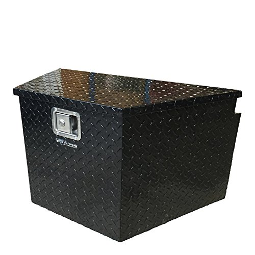 Pit Posse PP3281BK Aluminum Trailer Tongue Storage Tool Box with Lock for Truck UTV Pick Up - Waterproof - Durable - Versatile - Diamond Rugged Design - Easy to Carry - Mounts Easily (Black)