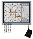 Deluxe Magnetic Scrabble | Mounts to Your Wall | Family Crossword Board Game with Message Board