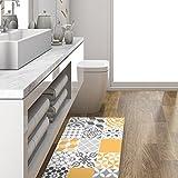alfombra vinilica salon amarilla