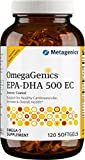 Metagenics OmegaGenics EPA-DHA 500 EC – Omega-3 Oil – Daily Supplement to Support Cardiovascular Health & Immune Function | 120 count