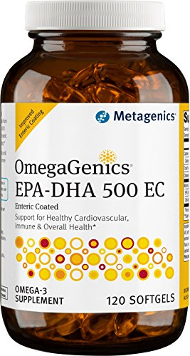 Metagenics OmegaGenics® EPA-DHA 500 EC – Omega-3 Oil – Daily Supplement to Support Cardiovascular Health & Immune Function | 120 count