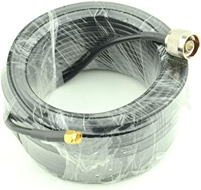15 Meter 49 2 Ft Low Loss RG58 N Male to SMA Male Antenna RF Coaxial Cable Connector and Two product image
