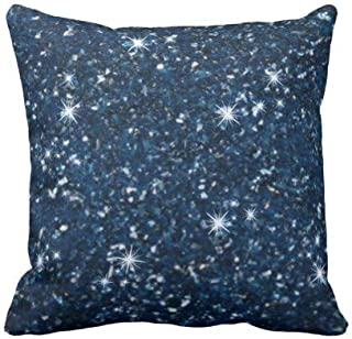 perfecone Home Improvement Pillowcase Glitter-Navy-Blue for Sofa and car Pillow case 1 Pack 20 x 20 inches/50 cm x 50 cm