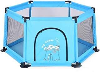 FJFSC Children's Play Fence Indoor Home Baby Infant Fence Safety Toddler Anti-Fall Playground (Color : Blue)