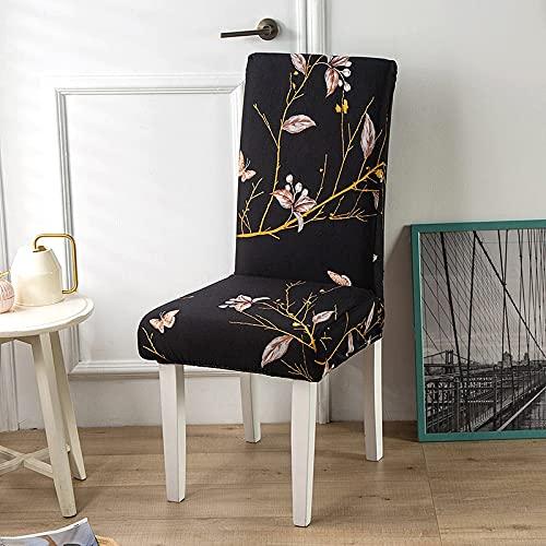 foglie stampate coprisedia per sedia da pranzo protezione sedia da ufficio sedia da banchetto fodera elasticizzata stampata floreale A14 2 pezzi