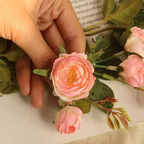 Faux Fleur, Hunpta Lot de 1 Mode artificielle Pivoine Bouquet de fleurs pour fête de mariage Home Decor rose
