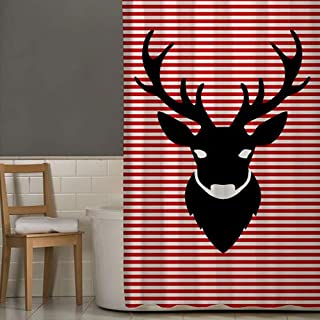 Right Canvas Red/White 180cm x 200cm Shower Curtain - RG138NPIC00035