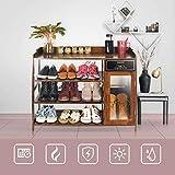 ZBY Gabinete casero multifuncional del zapato del secador del zapato, máquina de madera natural del cuidado del zapato, desodorante inteligente del ozono