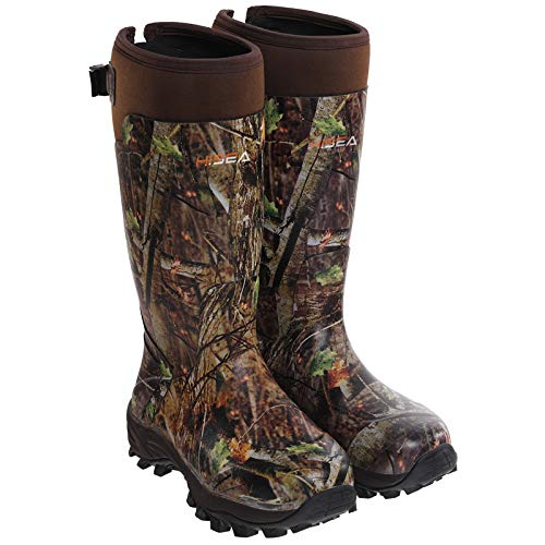 HISEA Apollo Basic Hunting Boots for Men Waterproof Insulated Rubber Boots Rain Boots Neoprene Mens Boots Camo