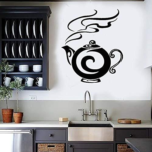 Tetera, té, cocina, café, decoración del hogar, pegatina de pared, Mural artístico, calcomanía de pared autoadhesiva extraíble, póster, decoración A2 33x44cm