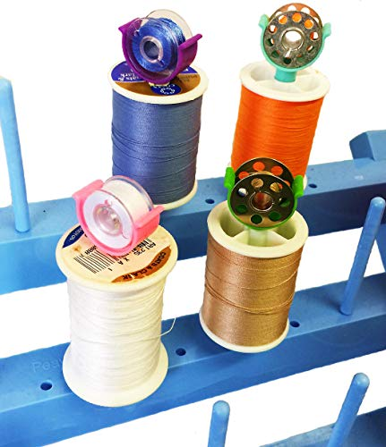PeavyTailor - Juego de 20 bobinas de cilp, organizador de roscas para máquina de coser Brother # 2