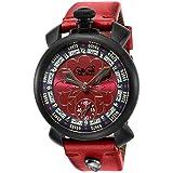[ガガミラノ] 腕時計 MANUALE48MM レッド文字盤 5012LV02-RED 並行輸入品 レッド