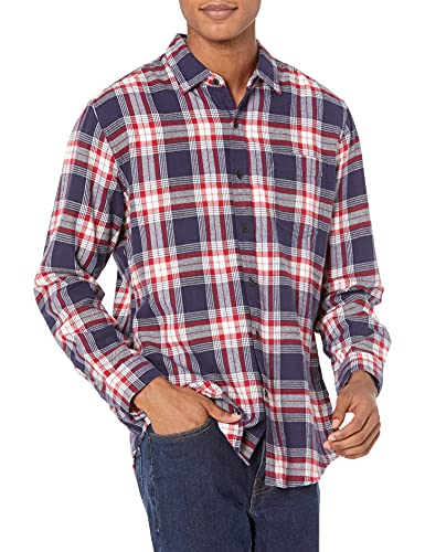 Amazon Essentials Regular-fit Long-Sleeve Flannel Shirt, Red...