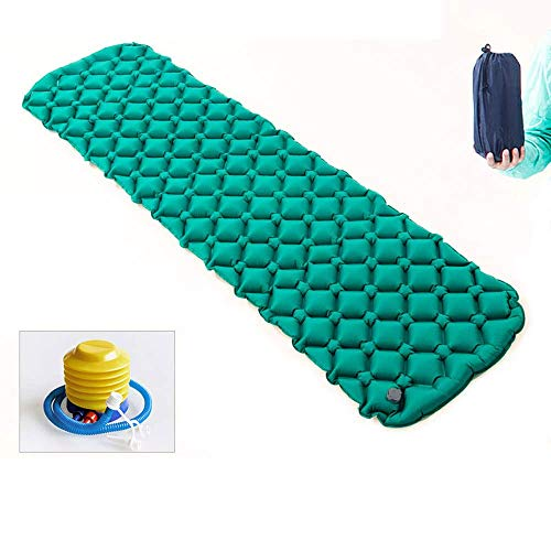 LLSS Inflatable Sleeping Mat, Inflatable Camping Mattress Pad Roll Mat Air Bed - Compact, Lightweight and Moistureproof - for Hiking, Backpacking, Hammock, Tents