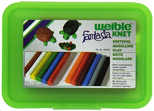 Weiblespiele 08340-2 - Schul-Knetbox mit 12 Rollen Knetmasse, grün