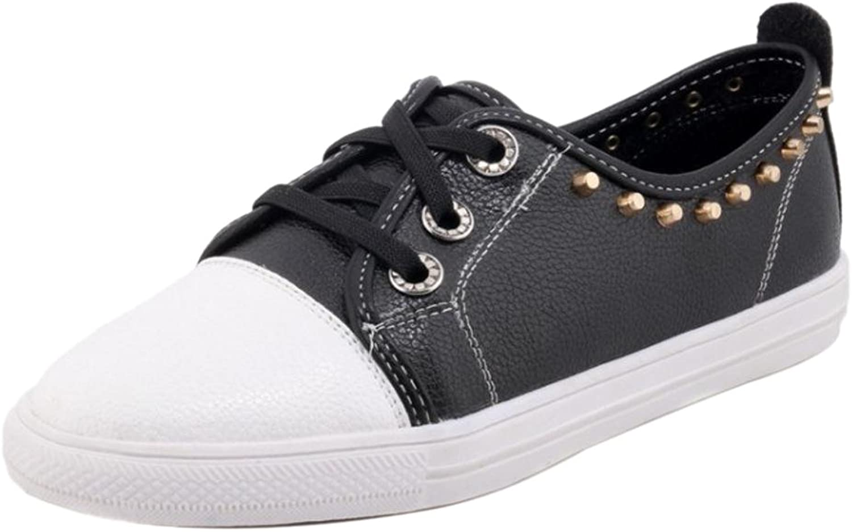 TAOFFEN Women's Flat Lace Up shoes