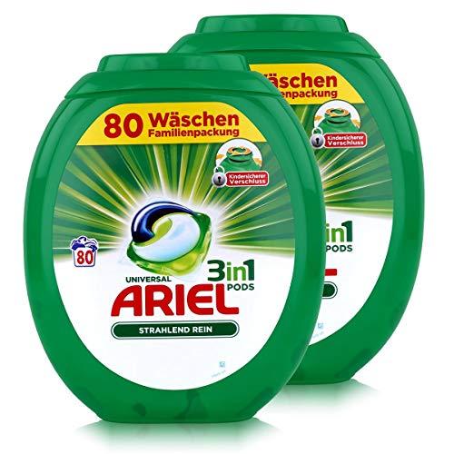 Ariel Allin1 Pods Universal Waschmittel für 80 Waschladungen (2er Pack)
