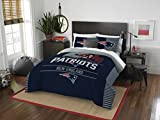 NORTHWEST NFL New England Patriots Comforter and Sham Set, Full/Queen, Draft