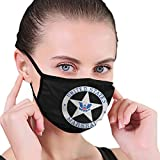 ZHIMING U.S. Marshal Service Badge Anti-dust Face Mouth Dust Mask for Camping Travel Black