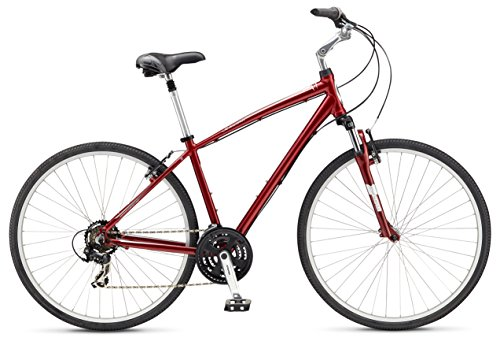Best Price Schwinn Men's Voyager 2 700C Wheels Hybrid Bicycle, Red, 18/Medium