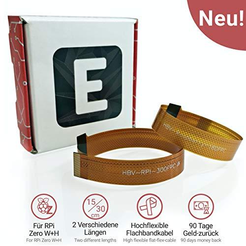 Electreeks® | NEU | Raspberry Pi Zero Kamera Kabel - Flexibles FFC Flachbandkabel für RPi Zero W und WH (1x 15cm | 1x 30cm)