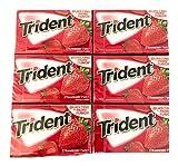 Trident Strawberry Twist Gum   Trident Sugarfree Gum   Pack of 6   14 Sticks Per Pack