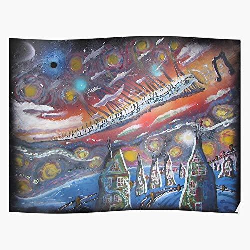 Vangoh Psychadelic Alarm Vangogh Spray Mind Ticas Impressionism El póster de decoración de interiores más impresionante y elegante disponible en tendencia ahora