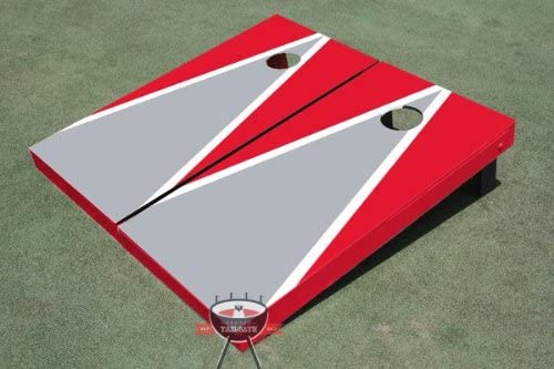 Custom Tailgate Gray and Red Triangle Ultra-Cheap Deals Hole Boards Matching A surprise price is realized Corn