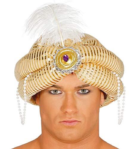 shoperama Sombrero turbante Maharadscha Sultan Oriente 1001 Noche Aladin del Desierto Prncipe Emir Kalif Bollywood accesorio para disfraz