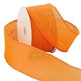 Morex Ribbon Burlap Wired Ribbon, 2.5' x 10 Yd, Orange
