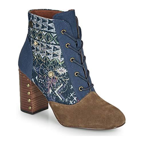 Desigual Holly Flowers Navajo Stiefelletten/Boots Femmes Blau/Braun - 36 - Low Boots