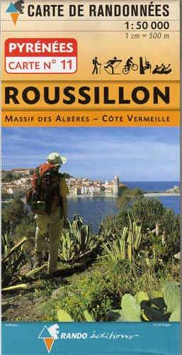 RANDO 11 Roussillon, Massif des Albères, Côte Vermeille, Topographische Wanderkarte Pyrenäen/Pyrénées/Pirineos 1:50.000, WK 50 Frankreich, Spanien, Rando Édition ( französische Seite)