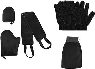 Amagogo Tanning Applicator Mitt Back Self Tan Exfoliator W/Bath Shower Gloves Set