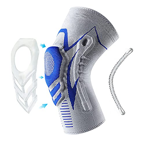 Pokepie Kniebandage für Sport,Kniebandage für Männer Damen Bandage Knie mit Silikonring für Fitness