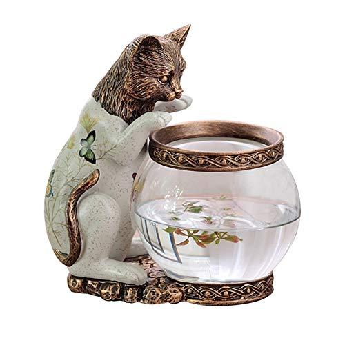 Love lamp Europese aquarium katjes ornamenten kinderkamer bureau decoratie glas goudvis kom tuin woonkamer veranda meubel