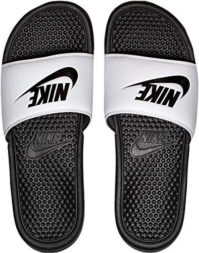 Nike Benassi Jdi-343880 - Chanclas para hombre, color Blanco, talla 42.5 EU