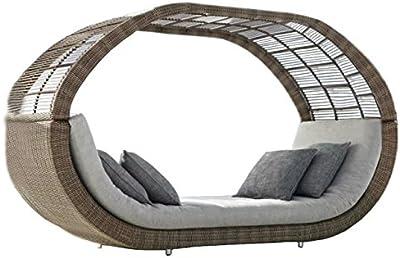 Sungao Imatation Bamboo - Rattan Wicker Lounge Sofa Bed